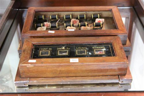 Edwardian Servants Call Indicator Board With Another (Missing Glass)