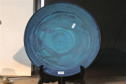Mitsuo Shoji Blue Glaze Dish