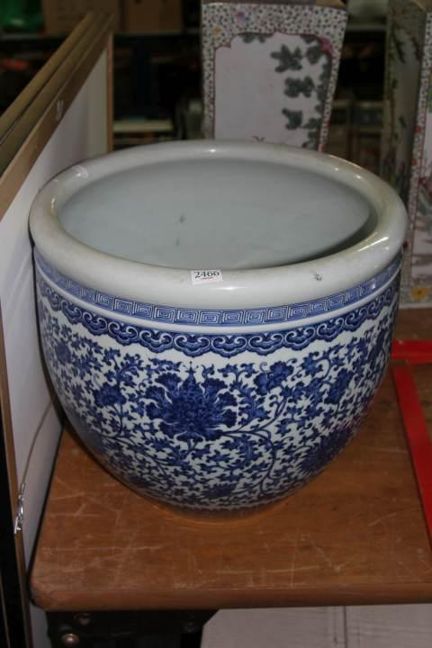 Chien Lung Marked Blue & White Bowl