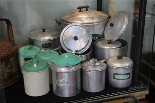 Aluminium Kitchen Canisters with Plastic Examples