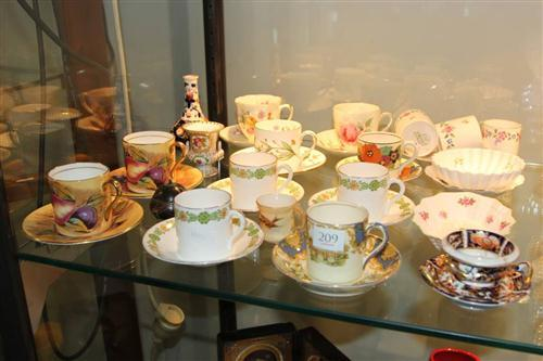 Aysnley Cup & Saucers with Other Ceramics incl. Minton
