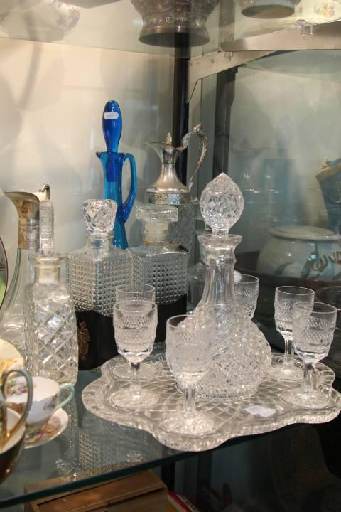 Crystal Drink Suite with Decanters