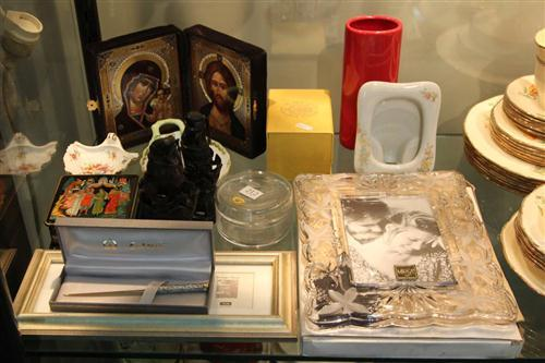 Russian Faberge Style, Egg, Lacquer Box, Herend Dish & Other Wares