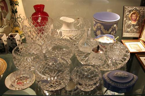 Wedgwood Jasper Wares with Other Wares incl. Crystal Champagne Bucket