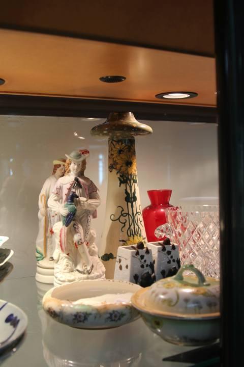 Frank Beardmore Mushroom Form Vase (AF) with Other Ceramics incl. Figures