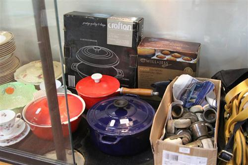 Le Creuset Lidded Casserole Dish with Other Cook Wares incl Crofton