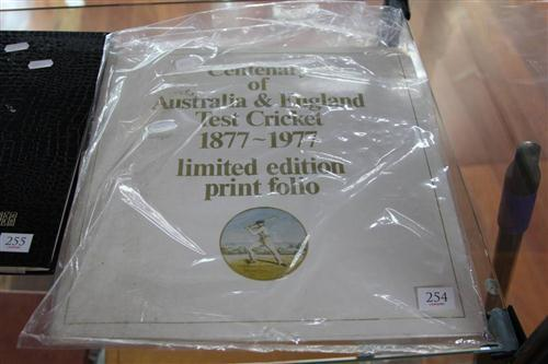 Centenary Australian Test Cricket Folio