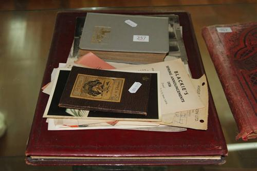 WWI Photograph Album with Other Ephemera incl. David Bowie Postcard