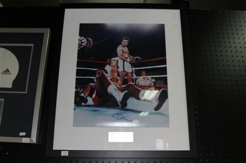 Signed George Foreman Muhammad Ali Picture