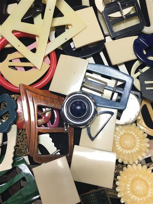 Vintage Bakelite Belt Buckles With Other Examples