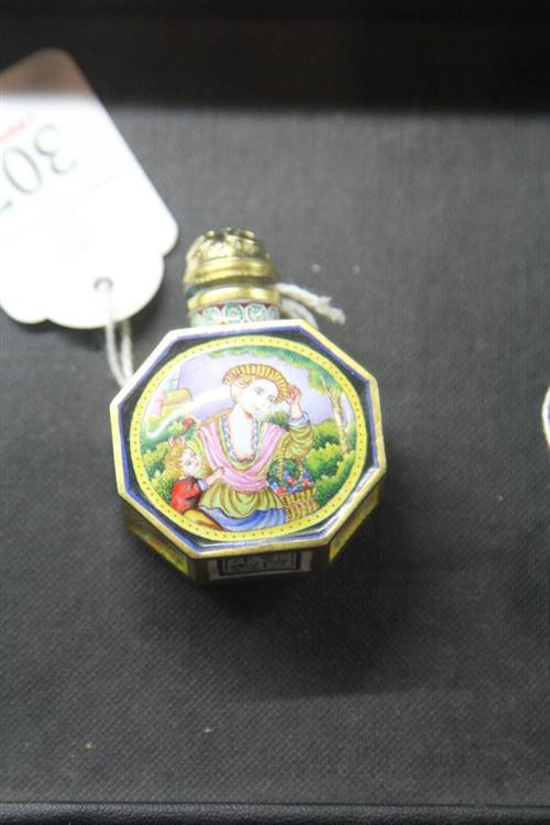Qianlong Style Canton Enamel 'European Ladies' Snuff Bottle