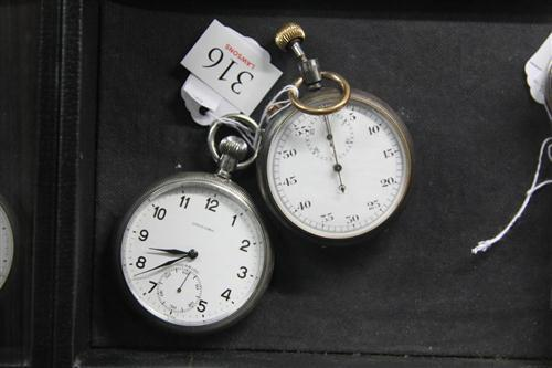 Vintage Unicorn Pocket Watch & a Stop Watch