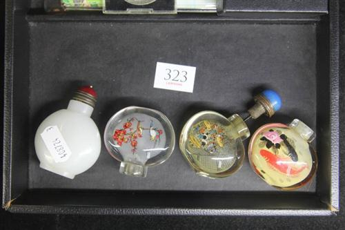 Glass Painted Snuff Bottles (4)