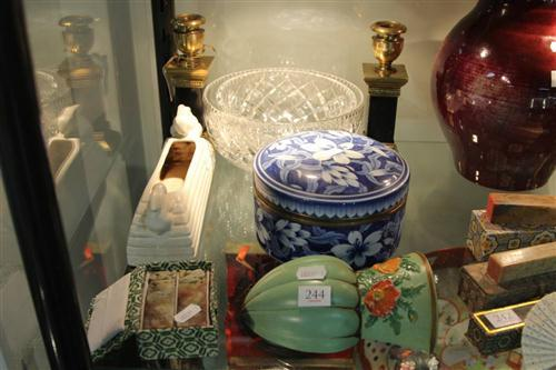 Column Form Candle Sticks with Other Wares Incl Chinese Stamp Seals