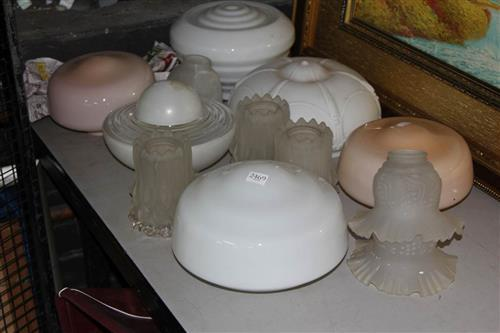 Frosted Glass Light Shades with Others incl. Art Deco