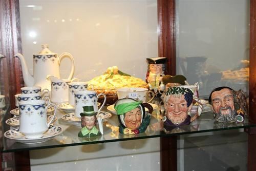 Royal Doulton Toby Jugs 'Merlin' & 'Bacchus' with Other Ceramics incl. Royal Albert ' ' Trio