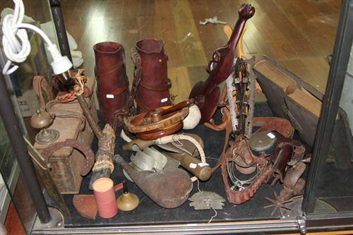 Equestrian Wares with Assorted Goods incl. Ammo Box