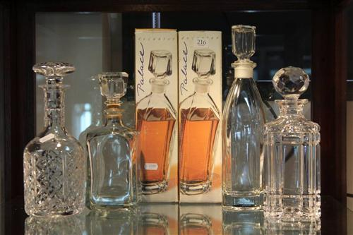 Cut Crystal Decanters with Others incl. a Pair of Boxed Wares