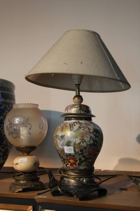 Converted Satsuma Style Lamp with a Parlour Lamp