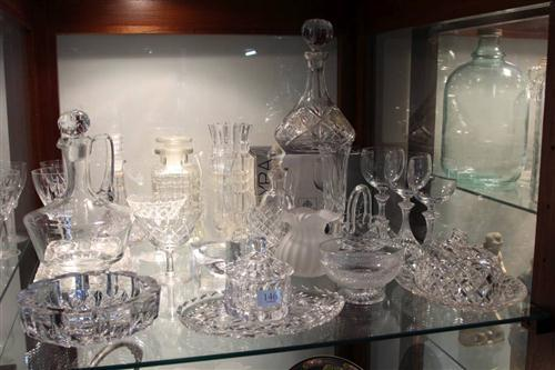 Cut Crystal Decanter with Glass & Crystal incl. Jugs