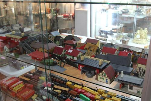 Faller Vintage Model Train Station with Other Model Train Wares