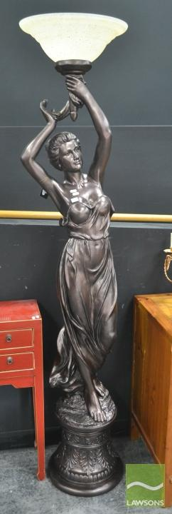 Lady Figural Base Floor Lamp