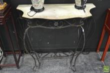 Marble Top Consol Table