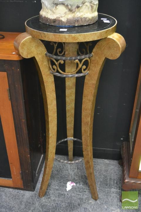 Marble Top Jardiniere Stand