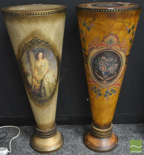 Pair of Painted Pedestals