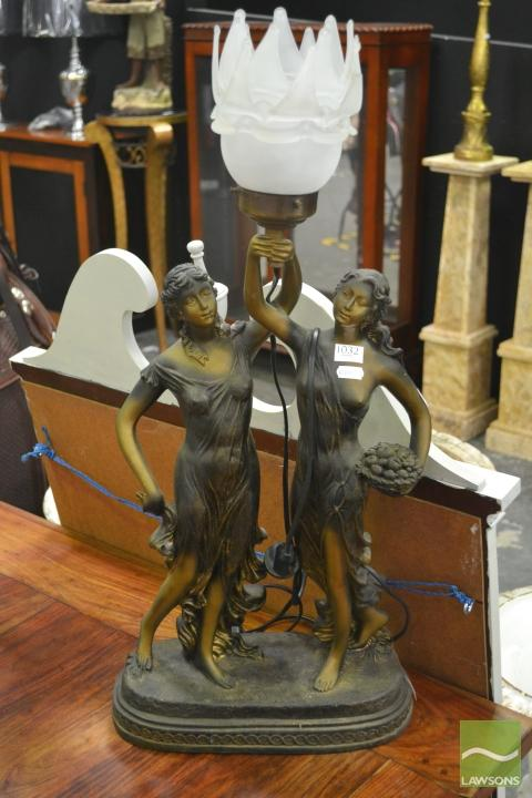 Lady Figural Lamp