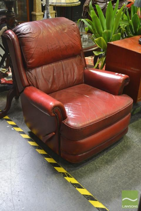 Leather Moran Chesterfield Reclining Armchair