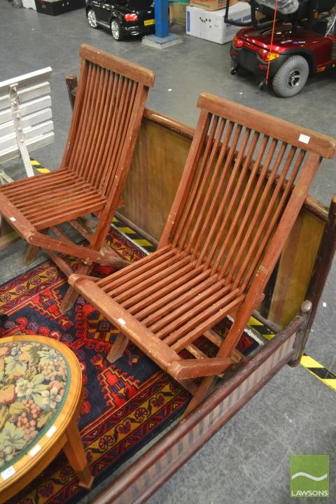 Set of Four Folding Outdoor Chairs