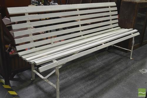 Large Painted Timber Bench Seat