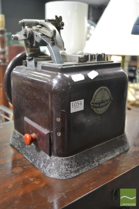 Bakelite Stamp Labeller (Brigshaw Brothers)