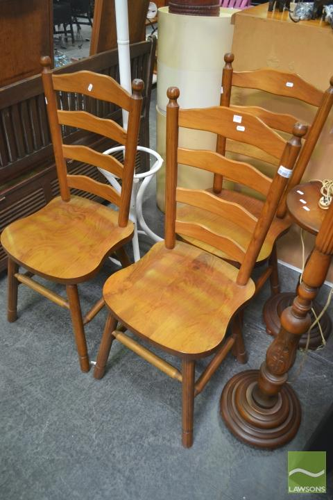 Three Ladderback Chairs