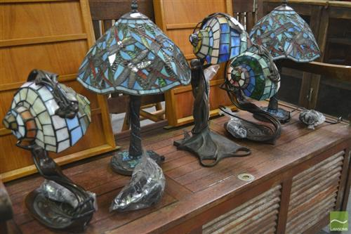 Collection of Leadlight Shade Table Lamps