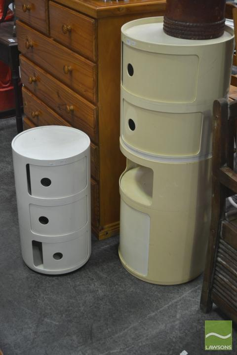 Two Kartell Side Tables