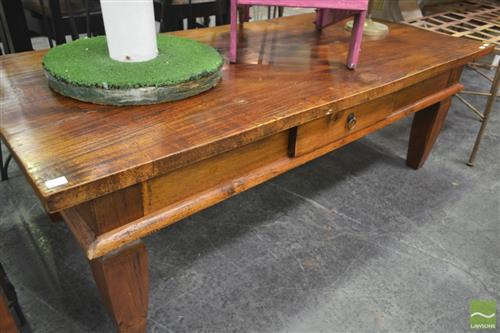 Timber Single Drawer Coffee Table