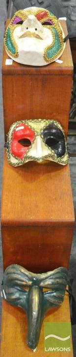 Set of Three Renaissance Style Ball Masks