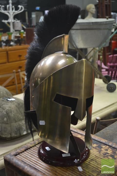 Roman Centurion Style Helmet on Stand