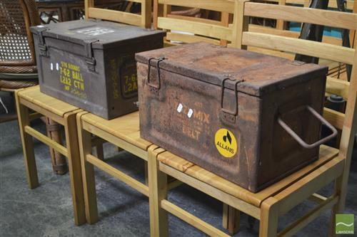 Pair of Metal Ammo Boxes