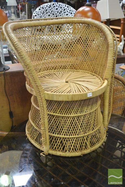 Wicker Tub Chair