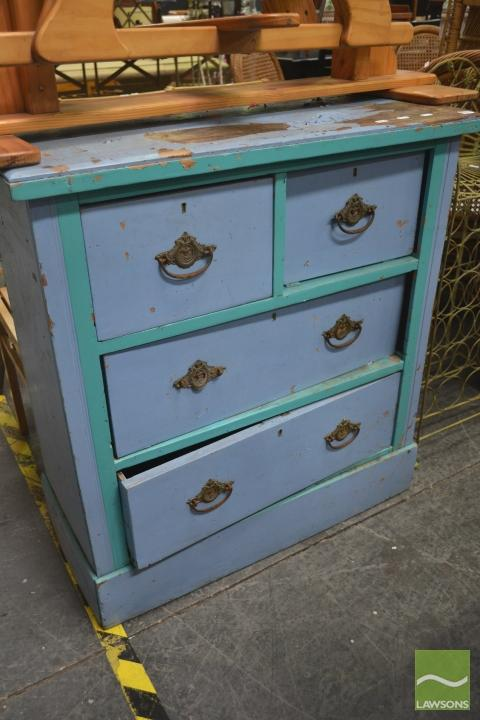 Timber Painted Four Drawer Chest