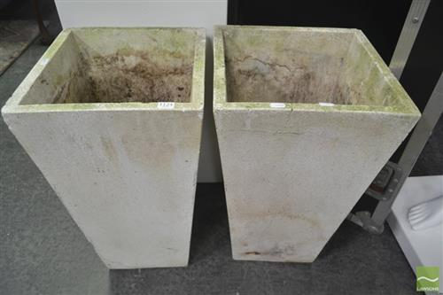 Pair of Planters (cracked)