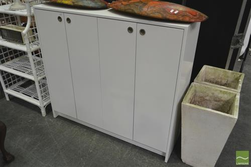 Modern White Four Door Cabinet
