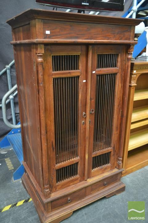 Timber Cabinet with Two Drawers Below