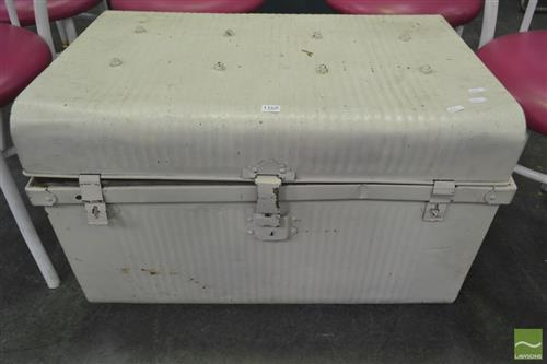 White Painted Metal Trunk