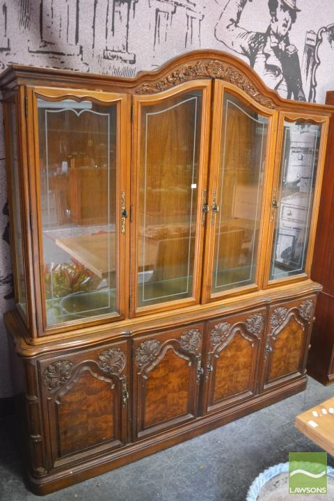 Timber Glass Front China Cabinet