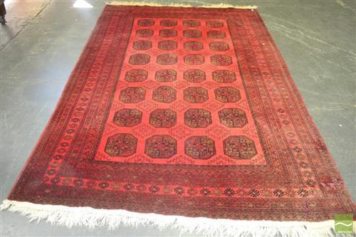 Afghan Turkoman (310 x 203cm) - light fading to one end
