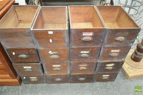 Collection of Timber Drawers (16)